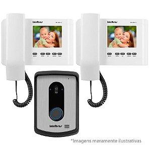 Kit Vídeo Porteiro Intelbras Iv 4010 Hs Branco + Extensão IV4000 In