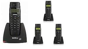 Kit Telefone S/ Fio Ts 40 Id + 3 Ramais