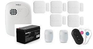 kit alarme - anm 3004 com bateria+ 03 controles+ 05 sensores de abertura + 02 sensores com fio + BRINDE SIRENE