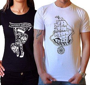 Duo Baby look Pernas & Camiseta Caravela