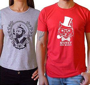 Duo Baby look Marinheiro & Camiseta Gato Money