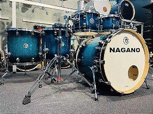 "Bateria Nagano Work Blue Sparkle 22"" 8"" 10"" 12"" 14"" 16"""