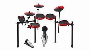 Bateria Eletrônica Alesis Nitro Mesh Kit Red Special Edition