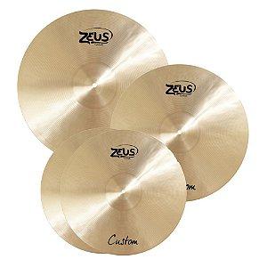 Kit de Pratos Zeus Custom C 14'' 16'' 20''