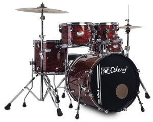 "Bateria Odery InRock Bloody Tiger 20"" 10"" 12"" 14"" + Caixa 14x06"""