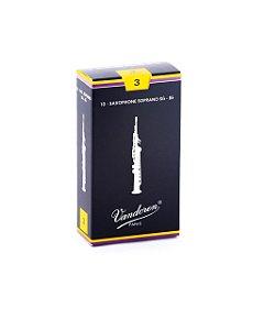 Palheta Tradicional 3 para Sax Soprano SR203
