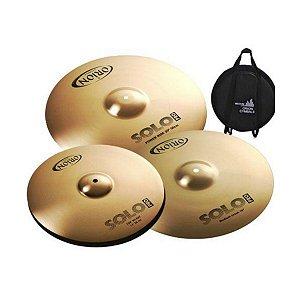 "Kit de Pratos Orion Solo Pro 10 14"" 16"" 20"" + Bag Grátis"