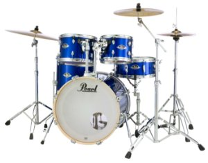 "Bateria Pearl Export EXX High Voltage Blue 20"" 10"" 12"" 14"" + Caixa 14x5,5"" Shellpack"