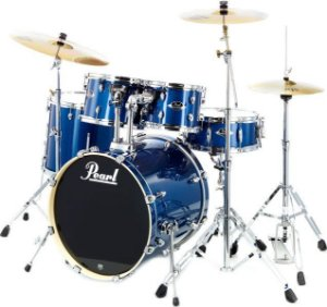 "Bateria Pearl Export EXX Electric Blue Sparkle 20"" 10"" 12"" 14"" + Caixa 14x5,5"" Shellpack"