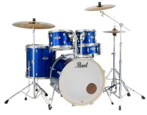 "Bateria Pearl Export EXX High Voltage Blue 22"" 10"" 12"" 16"" + Caixa 14x5,5"" Shellpack"