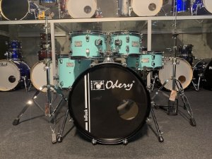 """Bateria Odery InRock Surf Green Limited Edition 20"""" 10"""" 12"""" 14"""" + Caixa 14x06"""""""