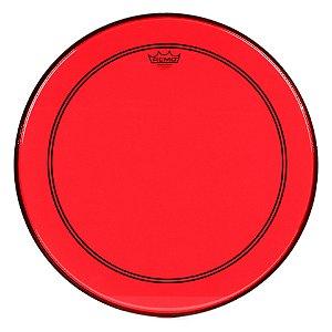 "Pele Remo Powerstroke 3 Colortone Vermelha p/ Bumbo 22"""
