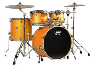 "Bateria D One Rocket Orange Satin 20"" 10"" 12"" 14"" c/ Caixa 14x5,5"""