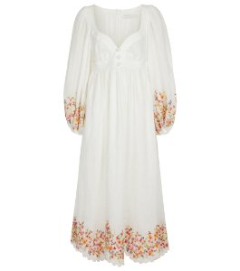 Zimmermann Vestido midi Mae com estampa floral