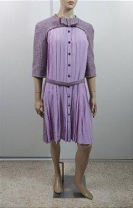 Chanel - Vestido Tweed e seda