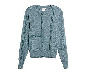 Chloé -   suéter de renda mescla em seda