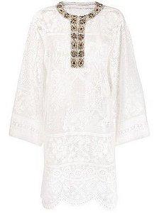 Dolce & Gabbana Embroidered Jewel Embellished Lace Kaftan Dress