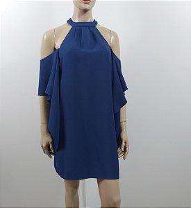 Talienk - Vestido crepe ombro vazado