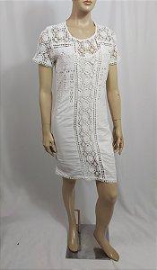 Vestido branco Laise e renda