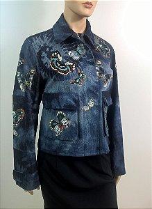 Valentino - Jaqueta jeans bordada