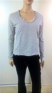 Talienk - Camiseta detalhe renda