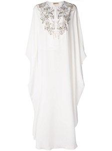 Emilio Pucci- Vestido longo com bordado floral