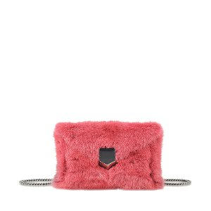 JIMMY CHOO - LOCKETT ENVELOPPE MINI CLUTCH IN MINK