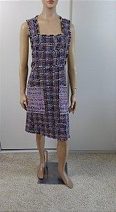 Chanel - Vestido tweed lilás