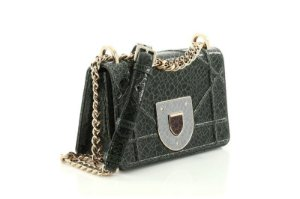 Dior - Diorama Club Flap Bag Crackled Deerskin Small