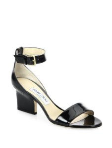 Jimmy Choo - Edina Patent Leather Ankle-Strap Sandals