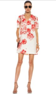 Stella McCartney - Red flower dress