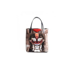 GIVENCHY -   Textured Coated Canvas Medium Tribal Girl Print Antigona Tote Multicolor