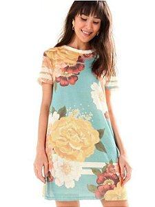 Farm - Vestido estampado tela