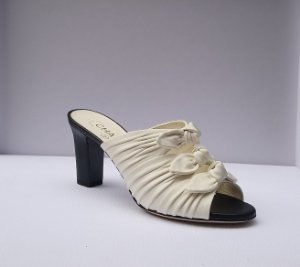Chanel -  White Sandals