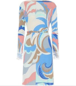 Emilio Pucci - Embellished silk-blend dress