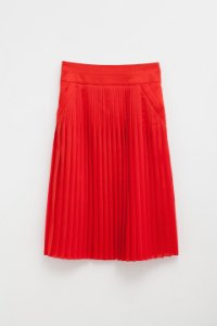Givenchy Pleated Midi Skirt in Red