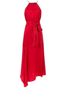 Le Lis Blanc - (Coleção 2019)  Vestido Daria Saia assimétrica Midi vermelho