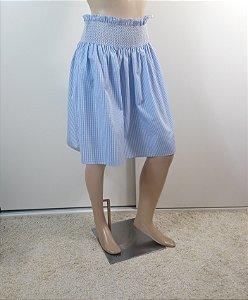 Miu Miu - Saia Xadrez azul