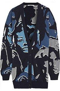 Stella McCartney - Faces intarsia wool cardigan