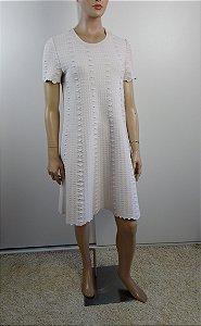 Alaia - Vestido texturizado Off white