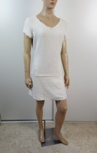 Canal - Vestido tweed - Off white