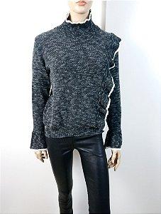 IORANE - Blusa trico babado