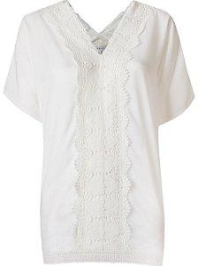Le Lis Blanc - Blusa aplicação bordô