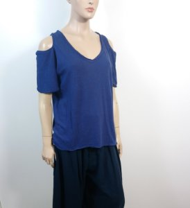 Talienk - T-shirt ombro vazado - azul