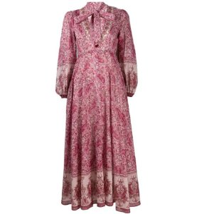 Zimmermann - Vestido evasê estampa Paisley / Nova coleção 2019
