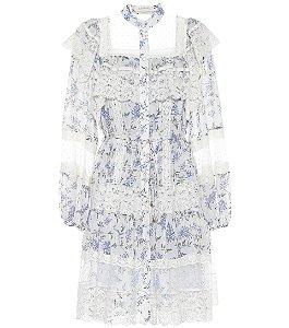 Zimmermann - Moncur floral-print lace-trim dress