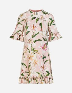 Dolce Gabbana - Vestido floral com babados