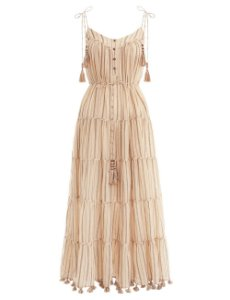 Zimmermann - Suraya Bronze stripe tie dress / Nova coleção 2019