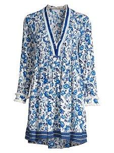 Poupette st Barth - Ola Floral Long-Sleeve Tunic Dress