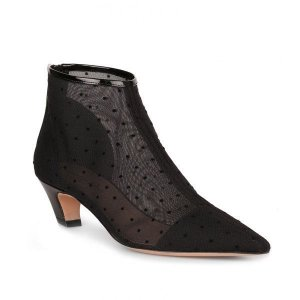 Dior - Black Pretty Polka-dot Mesh Bootie